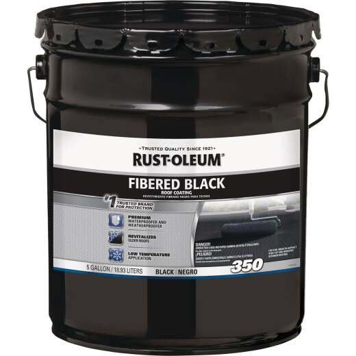 Rust-Oleum 350 5 Gal. Fibered Black Roof Coating