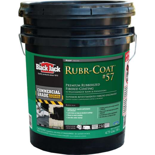 Black Jack Rubr-Coat #57 5 Gal. Premium Rubberized Fibered Coating