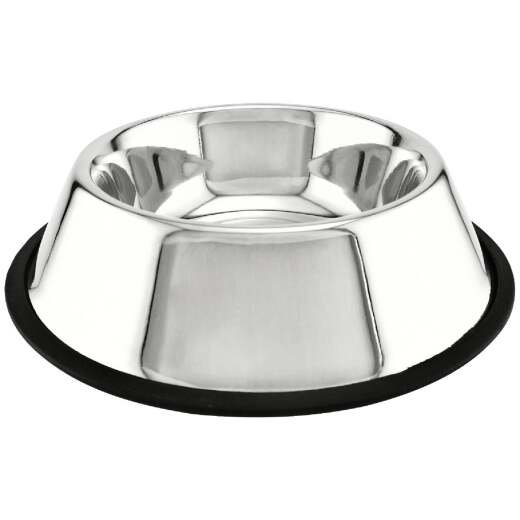 Westminster Pet Ruffin' it Stainless Steel Round 24 Oz. No Skid Pet Food Bowl