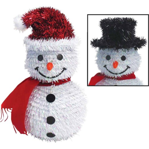 Youngcraft 11 In. Tinsel Snowman Holiday Decoration