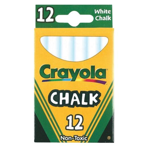 Crayola White Chalk (12-Count)